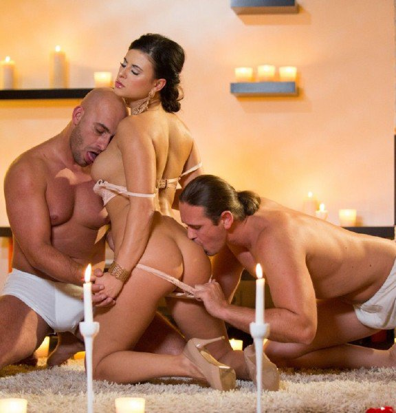 Private: Billie Star - Billie Gets Laid by Two Men at the Same Time in a Candle Lit Room 720p