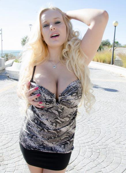 PublicInvasion: Angel Wicky - Blonde With Huge Tits 720p