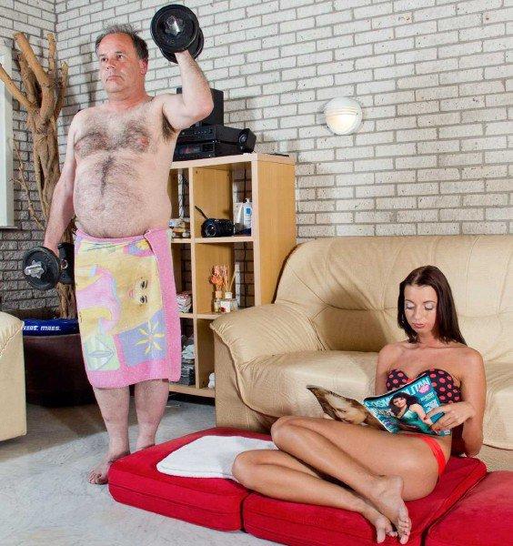 BeautyAndTheSenior: Leyla And Eric - Teen Fuck Old Man 720p