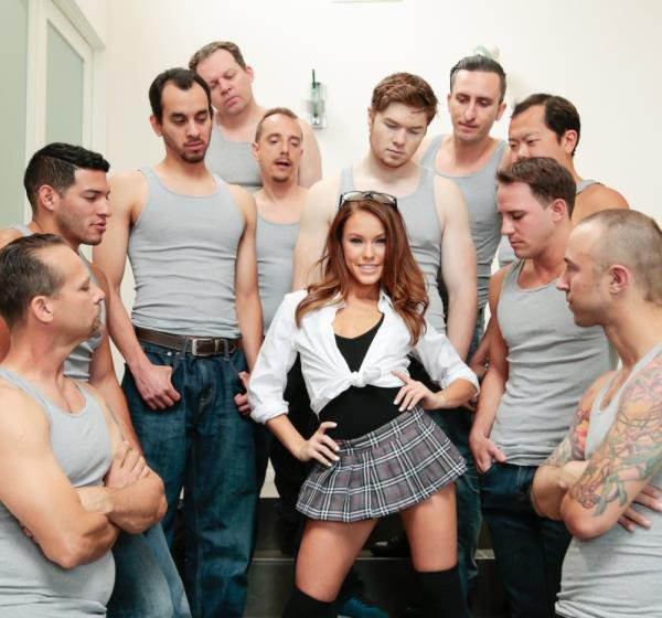 HardX: Megan Rain - Blowjob From 10 Guy 720p