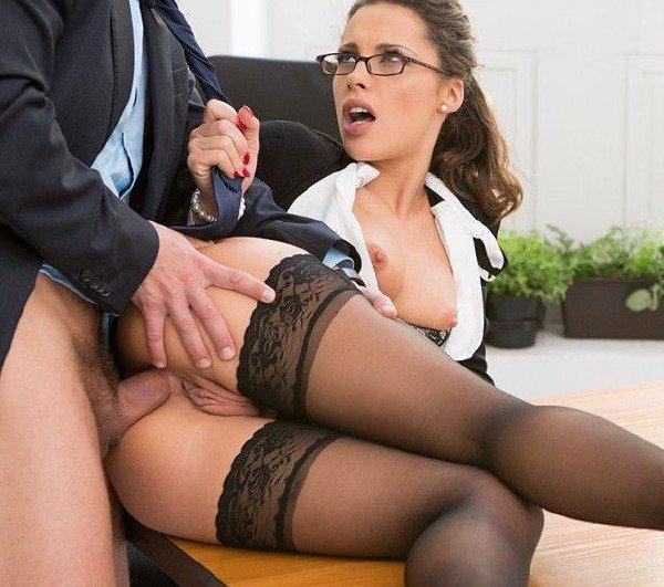 порно секретарши чулки фото видео