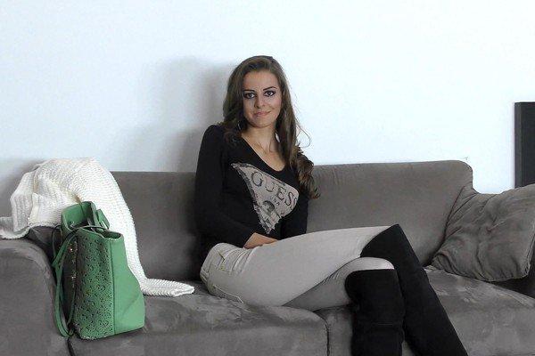 WoodmanCastingX: Enolla Calabre - Shy Girl With Boyfriend On Porn Casting