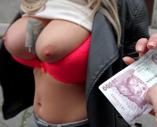 PickupGirls: Sienna Day - Show Big Tits Public For Cash 720p