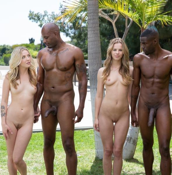 BrothaLovers: Jillian Janson Karla Kush - Interracial Foursome For Two Beautiful Blonde Girls 480p