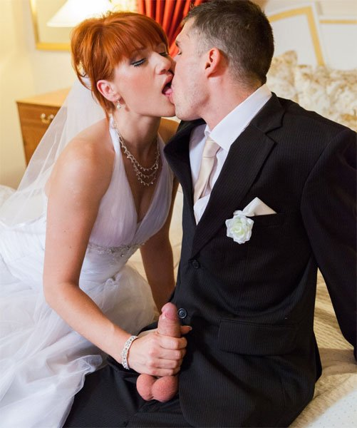 Private: Lucy Bell - Redheaded Bride Fuck With Groom And Jis Friend 1080p
