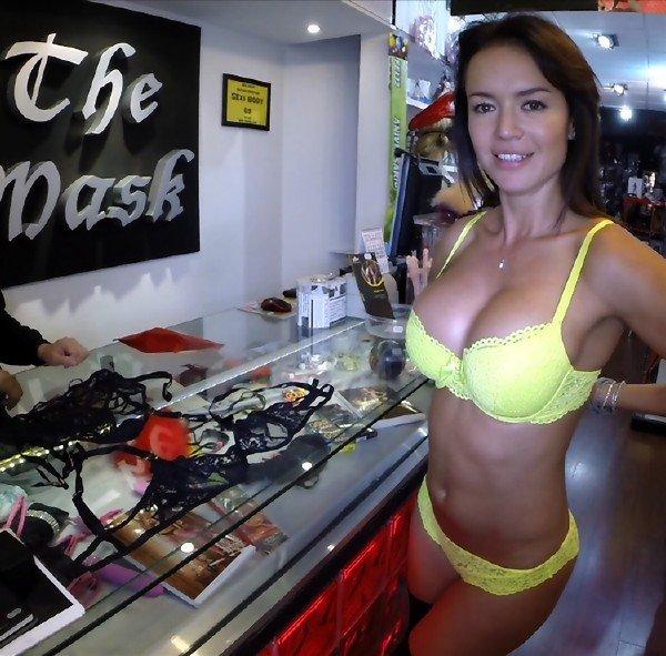 PublicFuck: Franceska Jaimes - Anal Sex In Sex Shop 720p