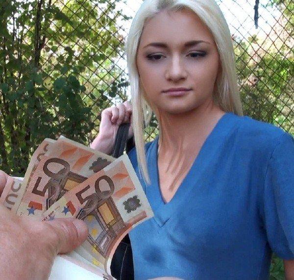 PickupGirls: Alive Bell - Pickup Blonde Girl On The Street 480p
