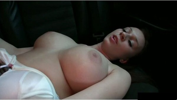 PickupGirls: Natalie - Girl With Big Boobies Fuck In The Car For Money 480p