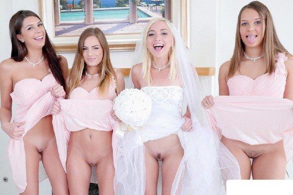 TeamSkeet: Sydney Cole, Liza Rowe, Eliza Jane - Bridesmaids Sex 540p