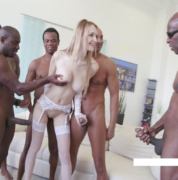 LegalPorn: Belle Claire - Black Busters Interracial Anal DP 480p