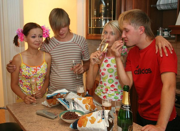 MyTeenVideo: Sheila and Lena - Russian Teen First Foursome 720p