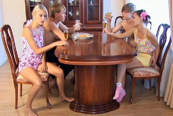 MyTeenVideo: Lena and Sheila - Russian Teen Orgy 720p