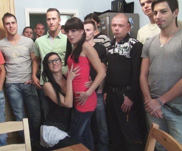 CzechGangbang: Emylia Argan and Nicoleta - Orgy Gang Bang Creampie 720p