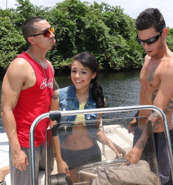 TeamSkeet: Holly Hendrix - Two Guys Fuck Latina Teen On Boat 480p