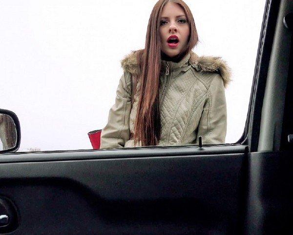PickupGirls: Rebecca Volpetti - Blowjob In Car 480p