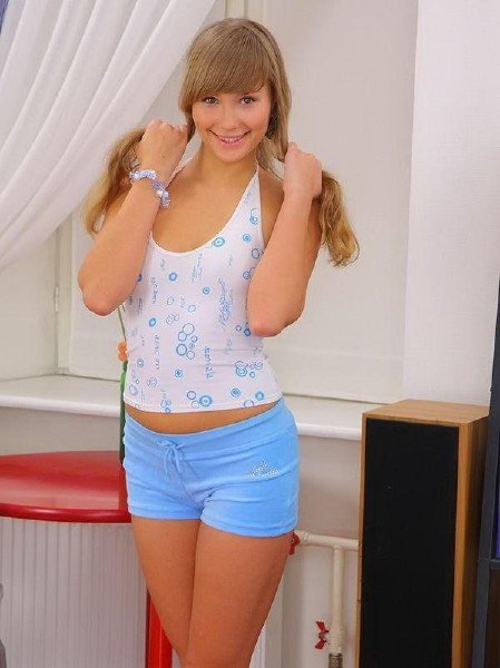 MyTeenVideo: Jessika Lux - Young Russian Girl With Pigtails 1080p
